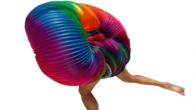 PHOTO: A Rainbow Human Slinky costume for Halloween is listed for one million dollars on Ebay.com.