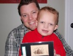 PHOTO: Jason LeBlanc pictured with his son, Alex, bought an 1865 baseball card for $92,000.