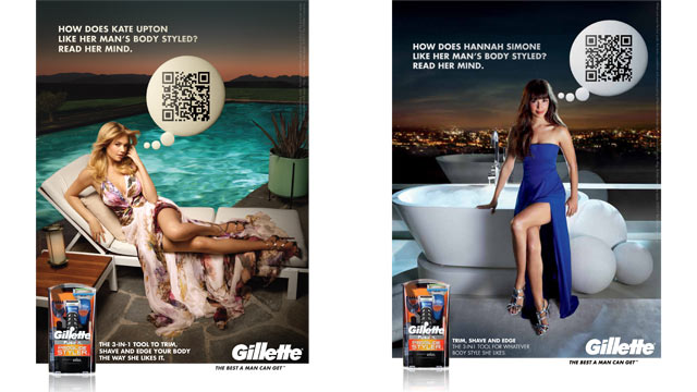 PHOTO: Kate Upton and Hannah Simone appear in new ads for Gillette promoting the Fusion ProGlide Styler.