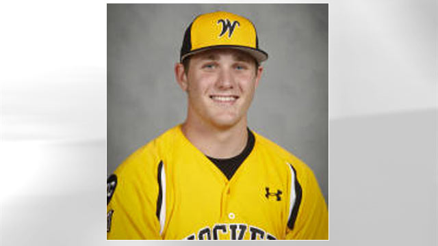 PHOTO: Kyle Bouman, seen in his Wichita State Shockers uniform, received help with his tuition payments from four anonymous donor families.