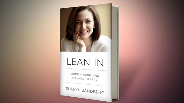 """PHOTO: Sheryl Sandberg's book, """"Lean In."""""""