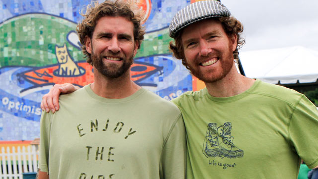 PHOTO: Bert and John Jacobs, the co-founders of the clothing company Life is good.