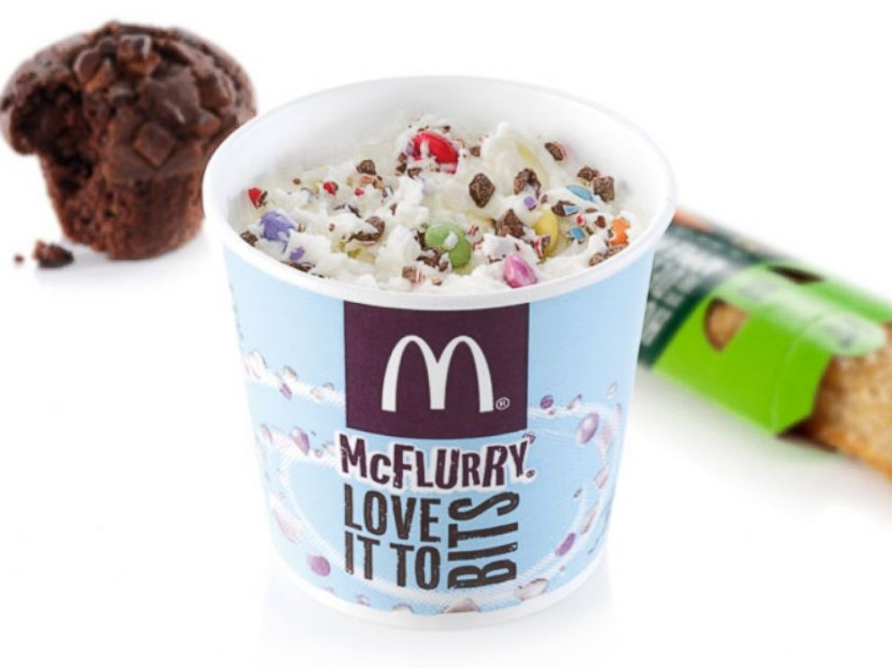 PHOTO: Only if youre at a McDonalds in the U.K. Other items found in British locations: Toffee and Honeycomb McFlurry, Chocolatey Donut and Mixed Berry and Custard Pie.