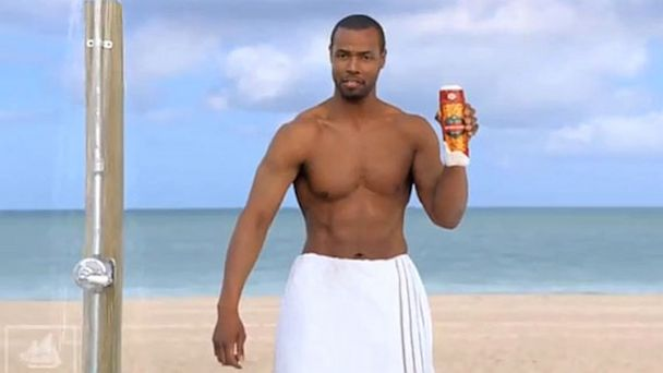PHOTO: Isaiah Mustafa, the spokesman for Old Spice, is seen in this undated ad.