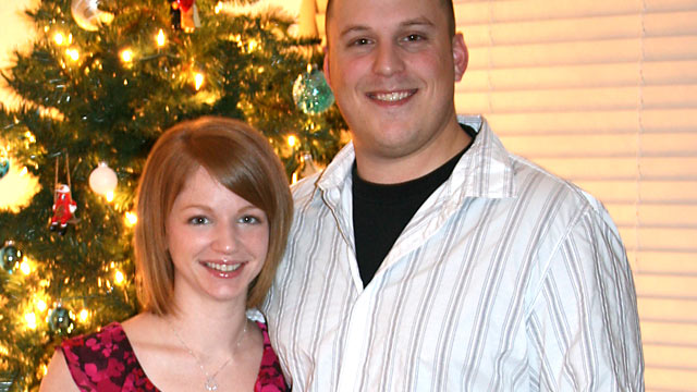 PHOTO: Matt Livingston, a professional poker player, and his wife, posed for a family photo last Christmas.