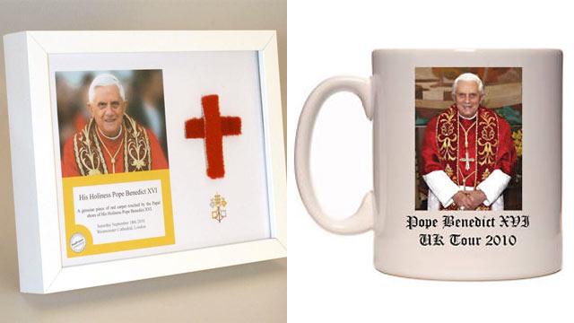 PHOTO: Pope Benedict XVI memorabilia has been put up for sale.