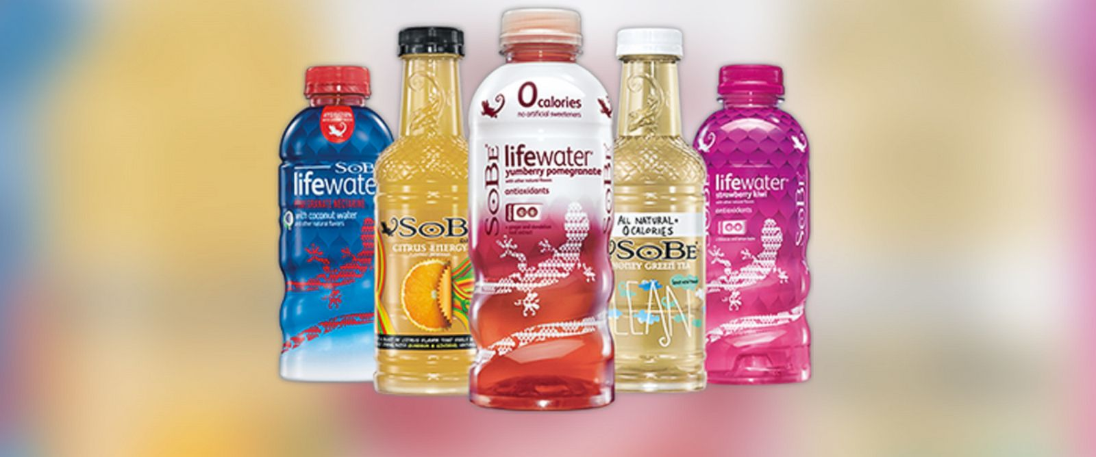 PHOTO: Bottles of Sobe beverages are pictured.
