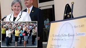 Photo: Recession Angels: An anonymous donor gives $6 million to Southern Mississippi University