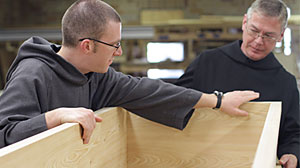 Photo: Monks Fight For Right To Sell Coffins: Battle To Raise Money Draws Wrath of Undertakers