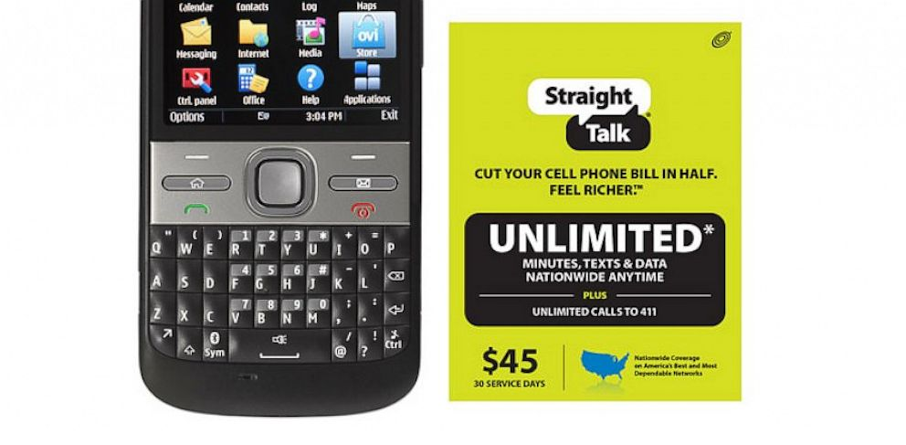 PHOTO: Straight Talk cellphone plan