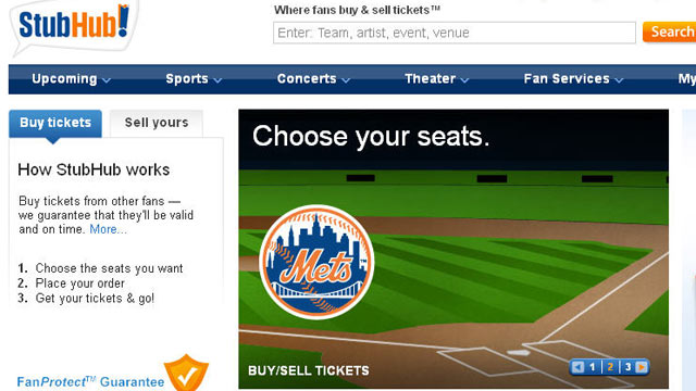 PHOTO: StubHub.com has revolutionized modern ticket sales.
