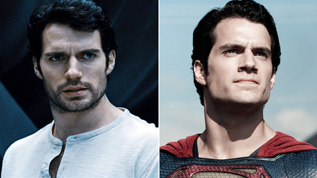 "PHOTO: Henry Cavill stars as Clark Kent, left, and as Superman in the film ""Man of Steel."""
