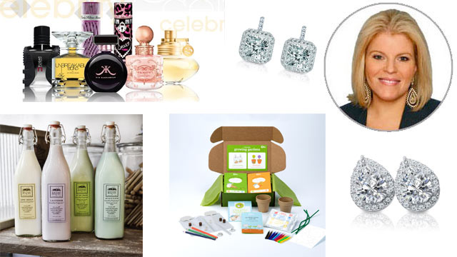 PHOTO: From top left, clock wise: Perfumania, Say Hello Diamonds Product, Tory Johnson, Say Hello Diamonds Product, Kiwi Crate Product, Good Home Product.