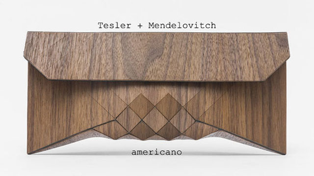PHOTO: Wood clutch