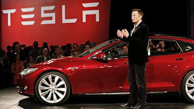 PHOTO: Elon Musk and Tesla Model S
