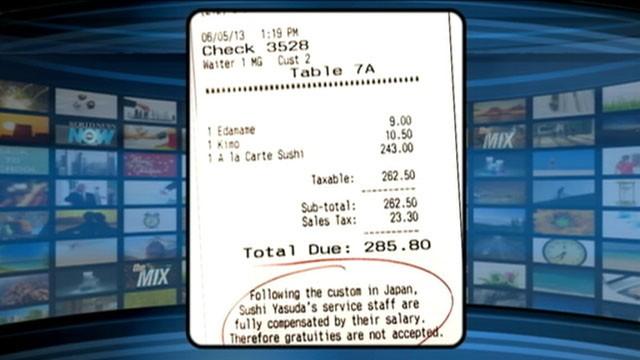 VIDEO: Sushi Yasuda, a popular NYC sushi restaurant, bans tipping.