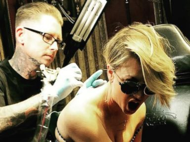 See Kaley Cuocos New Back Tattoo