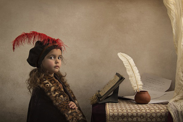 12 bill gekas portraits as paintings ll 130301 wblog These Arent Your Average Snapshots: Bill Gekas Portraits of His Daughter as Classic Paintings