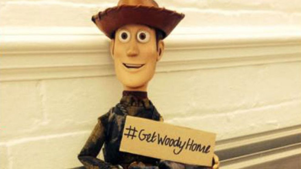 VIDEO: One womans Twitter campaign to reunite lost Woody doll with true owner.