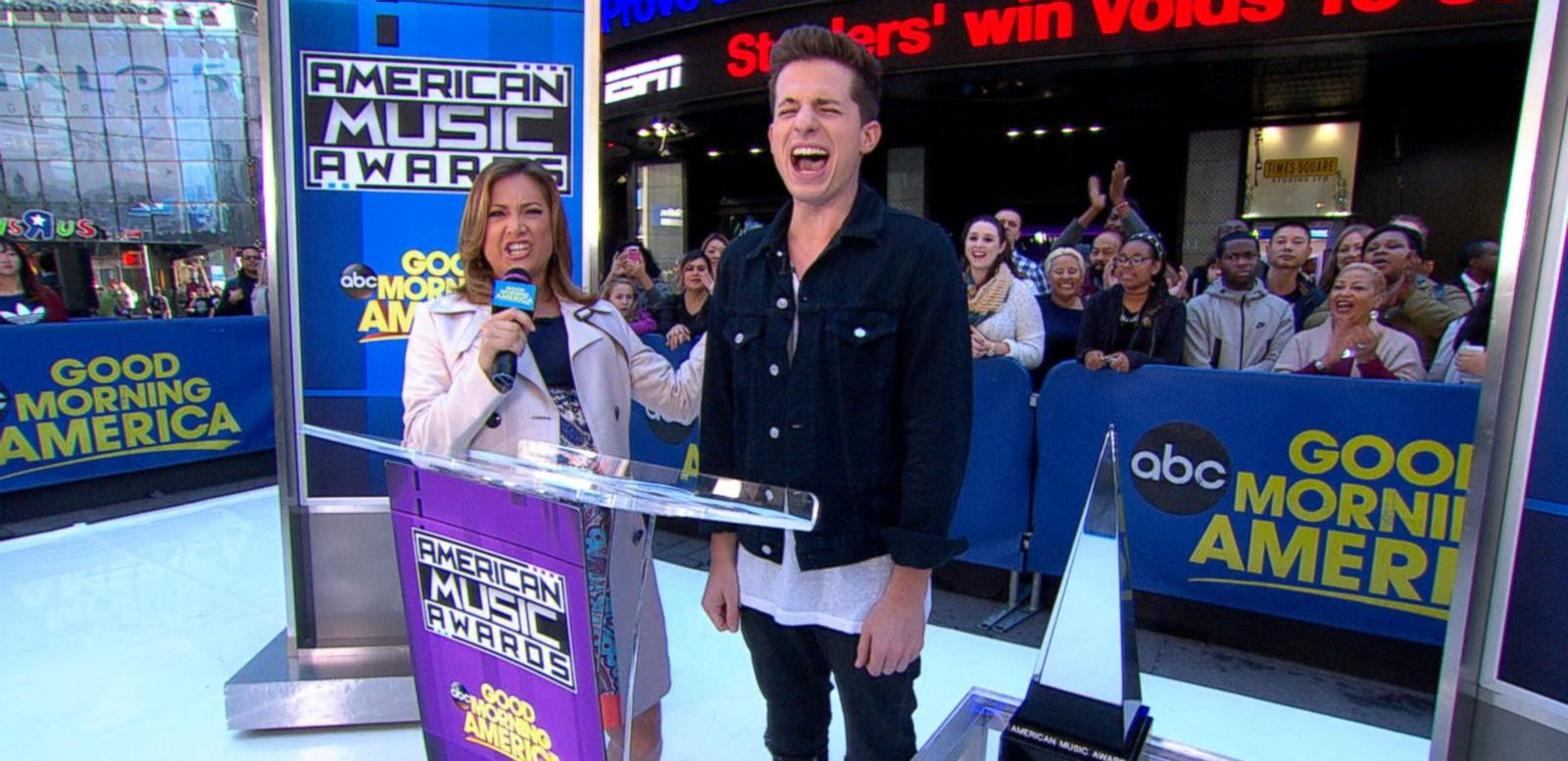 VIDEO: Charlie Puth announce 2015 American Music Award nominees.