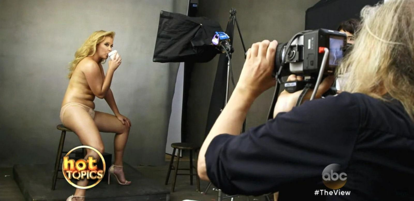 VIDEO: Amy Schumer Poses Semi-Nude