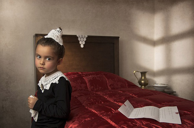 15 bill gekas portraits as paintings ll 130301 wblog These Arent Your Average Snapshots: Bill Gekas Portraits of His Daughter as Classic Paintings