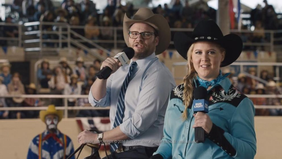 VIDEO: Super Bowl Ad: Amy Schumer and Seth Rogen Take on Bud Light