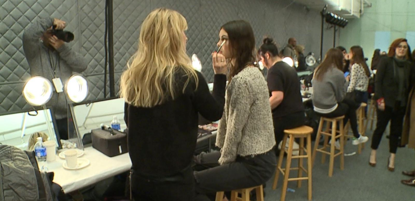 VIDEO: Hair and Makeup at Tadashi Shoji Show