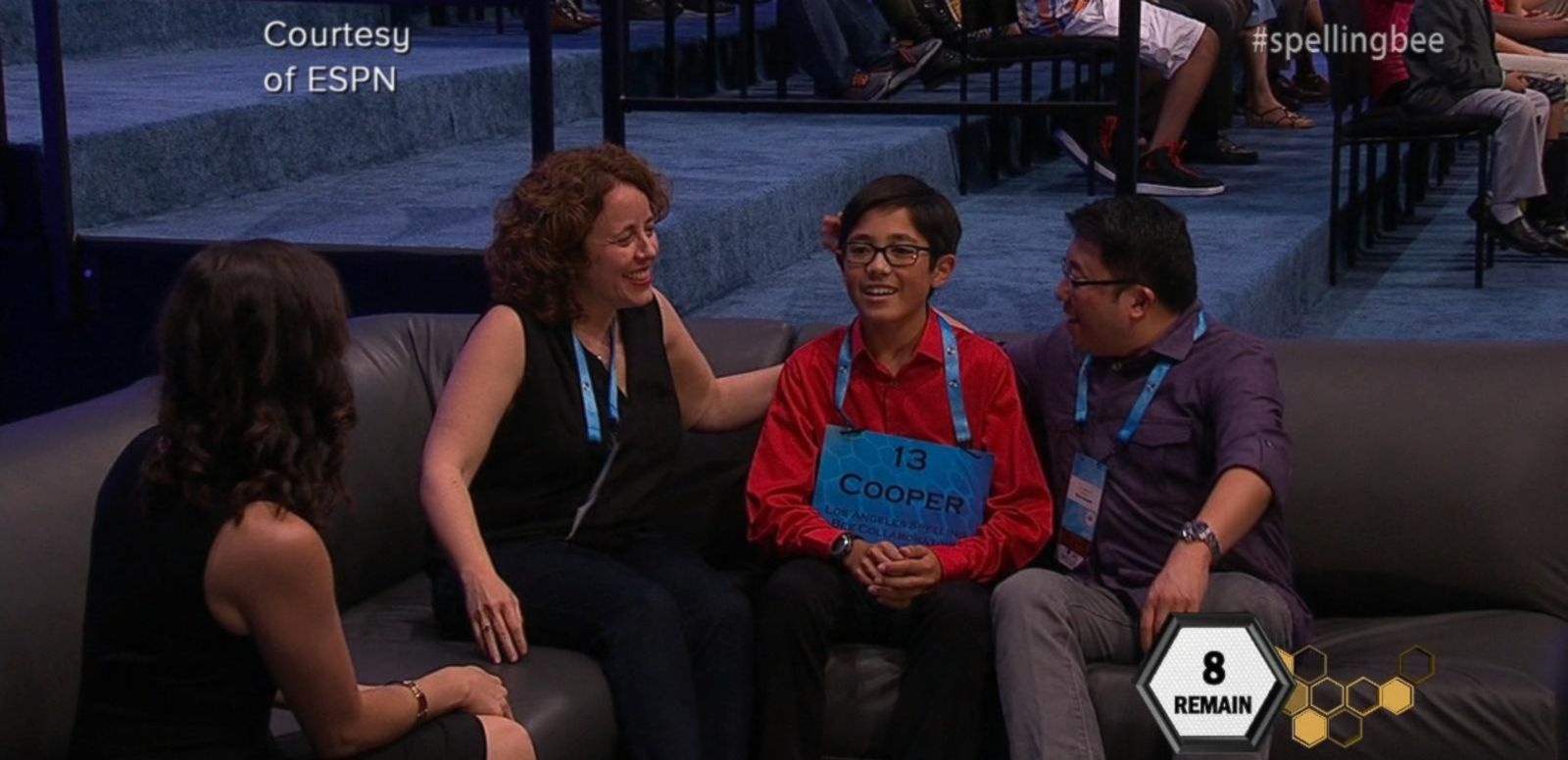 """VIDEO: The National Spelling Bee """"Comfort Couch"""""""