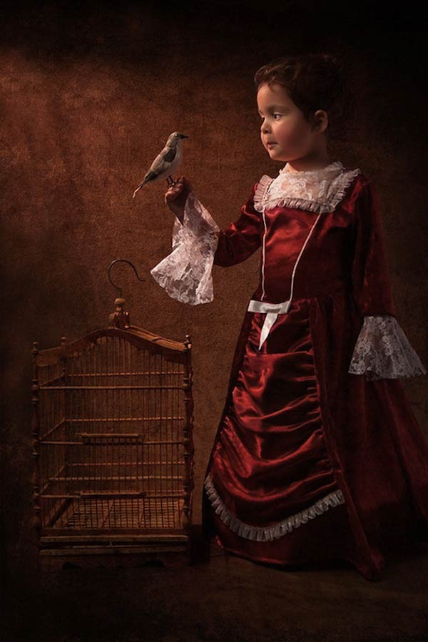 16 bill gekas portraits as paintings ll 130301 vblog These Arent Your Average Snapshots: Bill Gekas Portraits of His Daughter as Classic Paintings