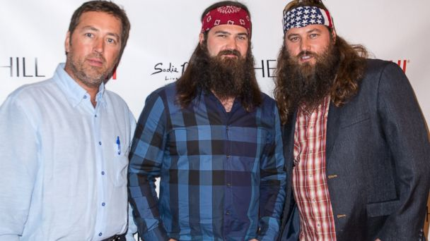PHOTO: From left, Alan Robertson, Jep Robertson and Willie Robertson