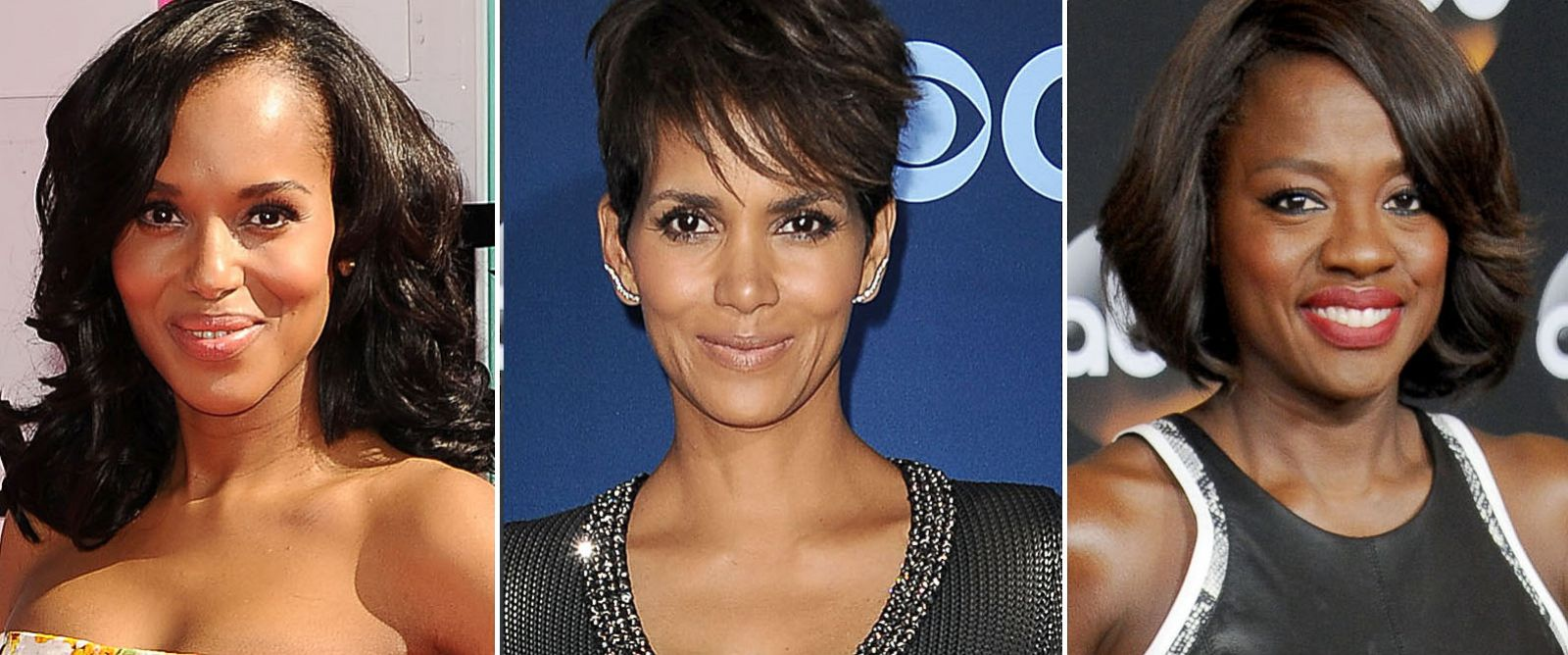 PHOTO: Left to right, Actress Kerry Washington, Halle Berry, and Viola Davis are seen.