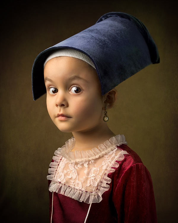 2 bill gekas portraits as paintings ll 130301 vblog These Arent Your Average Snapshots: Bill Gekas Portraits of His Daughter as Classic Paintings