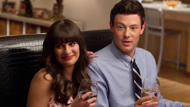PHOTO: Rachel (Lea Michele) and Finn (Cory Monteith) have dinner with her dads in the episode of Glee airing on Fox.