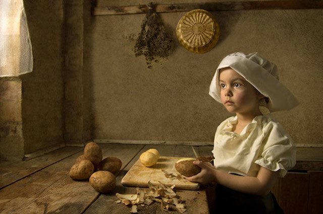 4 bill gekas portraits as paintings ll 130301 wblog These Arent Your Average Snapshots: Bill Gekas Portraits of His Daughter as Classic Paintings