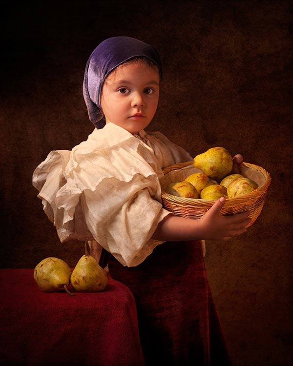 5 bill gekas portraits as paintings ll 130301 vblog These Arent Your Average Snapshots: Bill Gekas Portraits of His Daughter as Classic Paintings