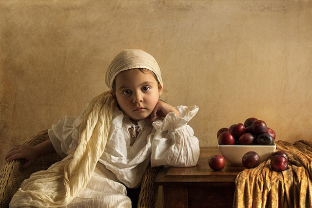 6 bill gekas portraits as paintings ll 130301 wblog These Arent Your Average Snapshots: Bill Gekas Portraits of His Daughter as Classic Paintings