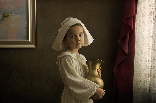 8 bill gekas portraits as paintings ll 130301 wblog These Arent Your Average Snapshots: Bill Gekas Portraits of His Daughter as Classic Paintings