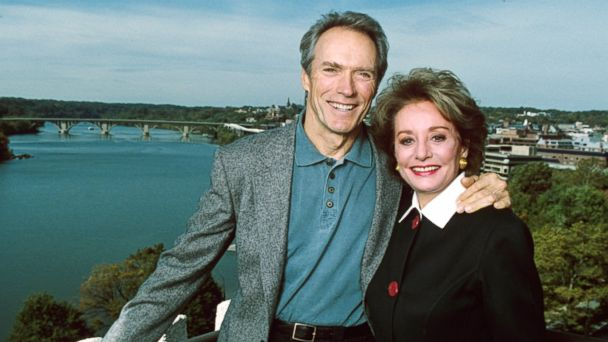 PHOTO: Barbara Walters interviews Clint Eastwood for her special airing November 24, 1992 on the ABC Television Network.