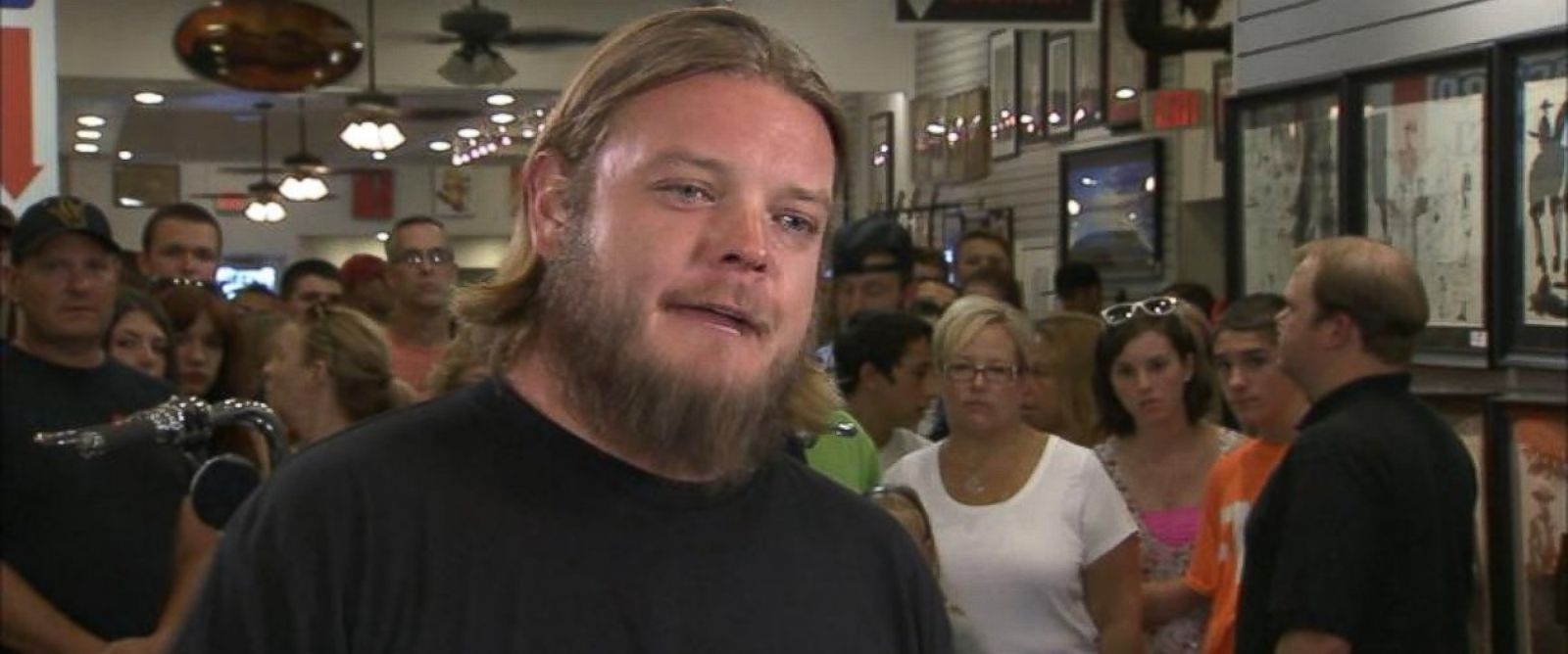 PHOTO: Corey Harrison on Good Morning America, July 21, 2014.