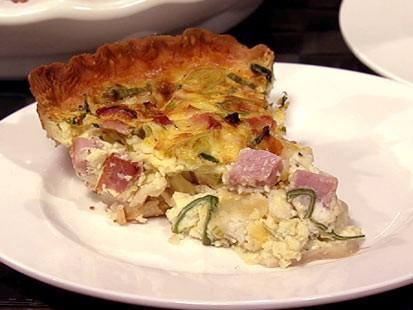 PHOTO: Carla Halls Gruyere ham quiche is shown here.