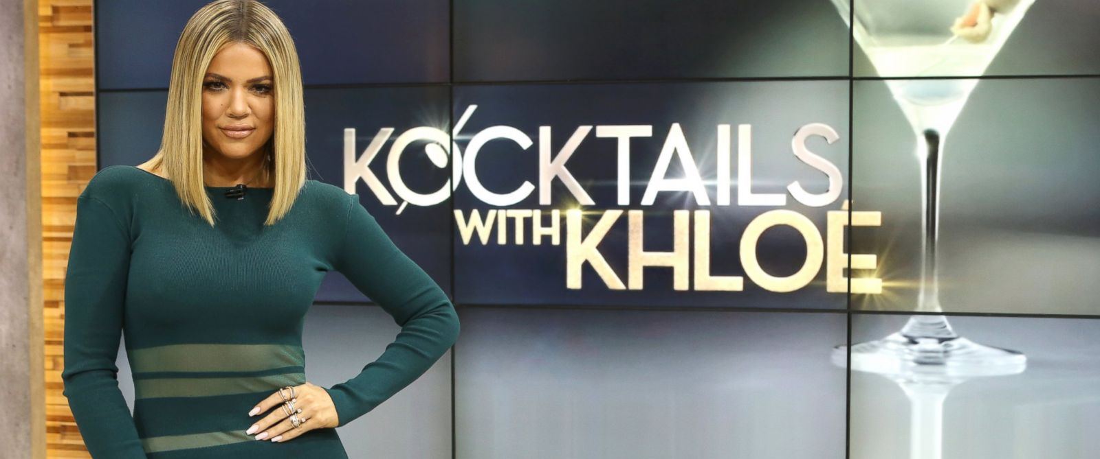 """PHOTO:Khloe Kardashian discussed her new talk show, """"Kocktails WIth Khloe,"""" on """"Good Morning America,"""" Jan. 13, in New York."""