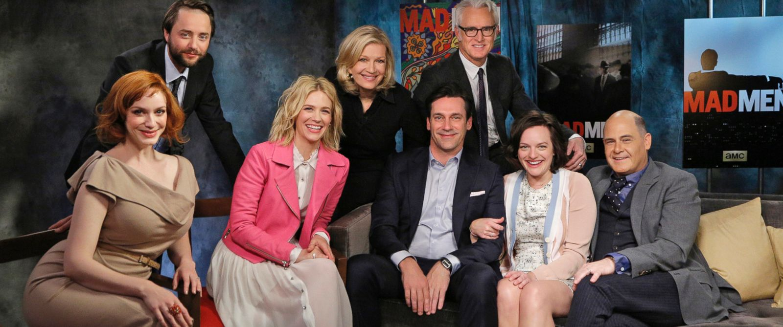 "PHOTO: In a broadcast-exclusive interview, the stars of AMCs ""Mad Men"" joined creator Matthew Weiner and ABC News Diane Sawyer to swap secrets, talents and laughs."