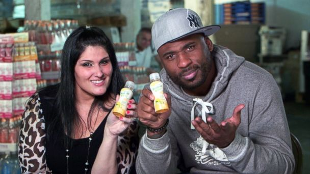 """PHOTO: Tania Patruno and Brandon Jacobs pitched their product, PRO-NRG, on ABCs """"Shark Tank."""""""