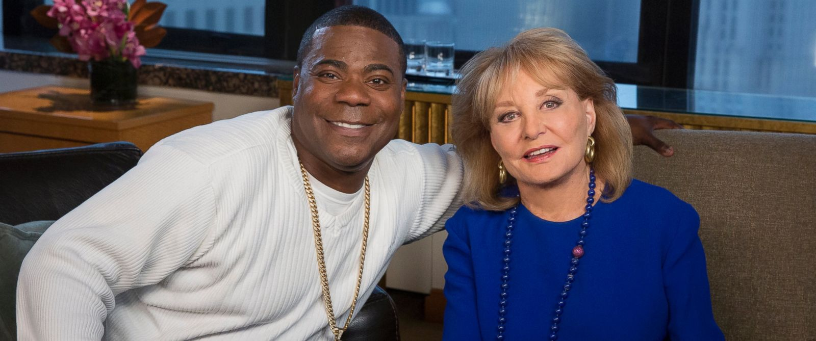 """Barbara Walters talks to Tracy Morgan for the ABC News special, """"Barbara Walters Presents: The 10 Most Fascinating People of 2015."""""""