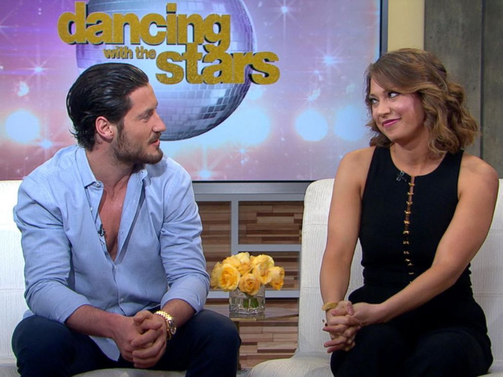 PHOTO: Ginger Zee, chief meteorologist at ABC News, right, and pro dancer Val Chmerkovskiy, will be partners on Season 22 of Dancing With the Stars, premiering March 21, 2016, on ABC.