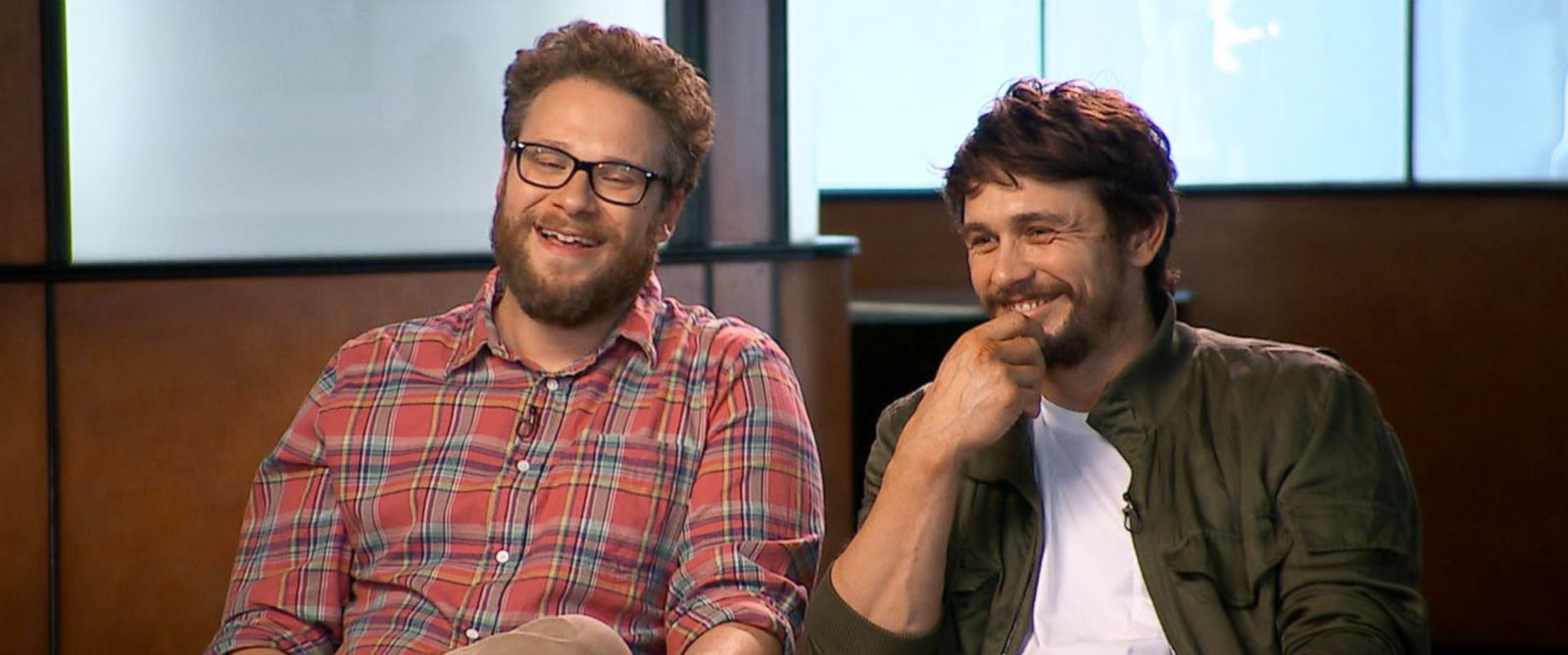 PHOTO: Nightline sits down with Seth Rogen and James Franco to discuss their new movie.
