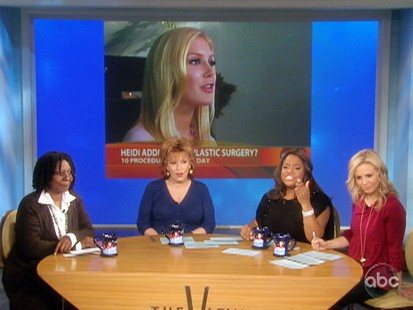 VIDEO: The View criticizes Heidi Montags plastic surgery.