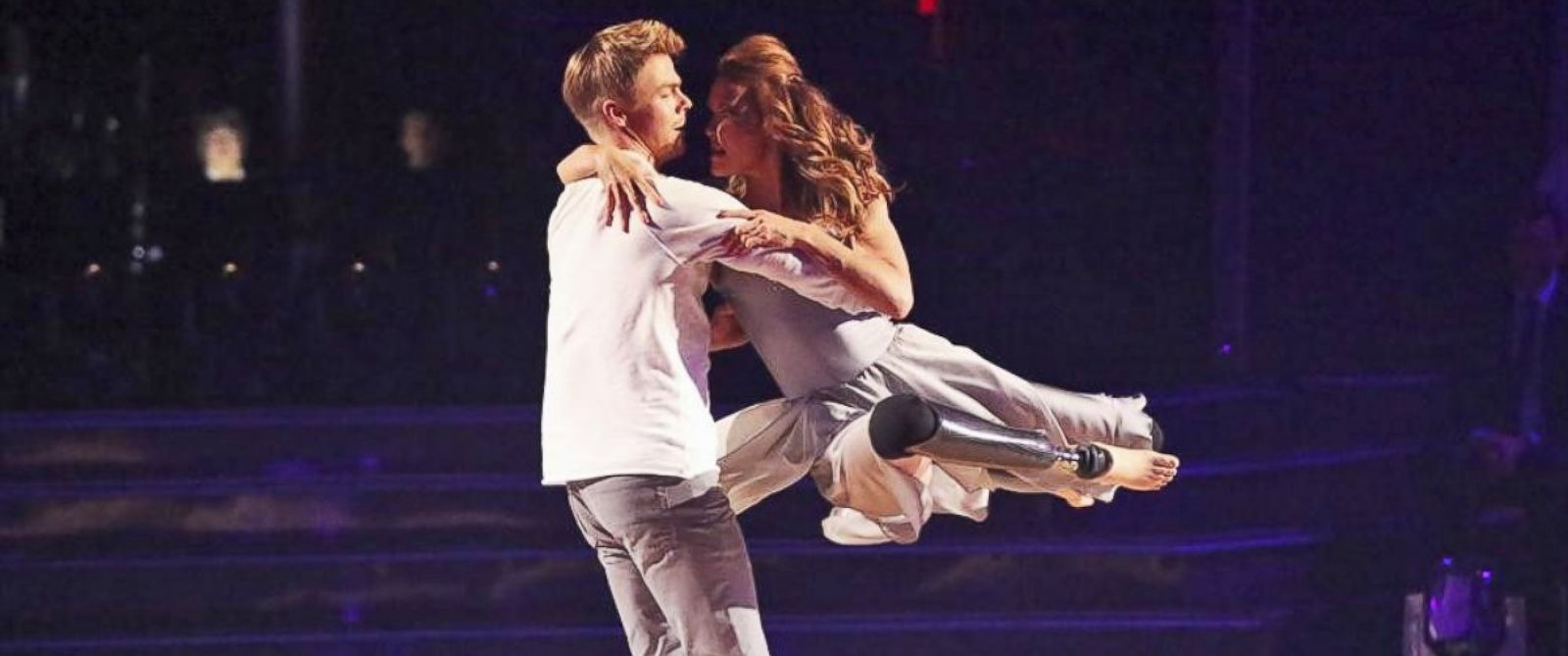 """PHOTO: Derek Hough and Amy Purdy appear on """"Dancing With The Stars,"""" March 31, 2014."""