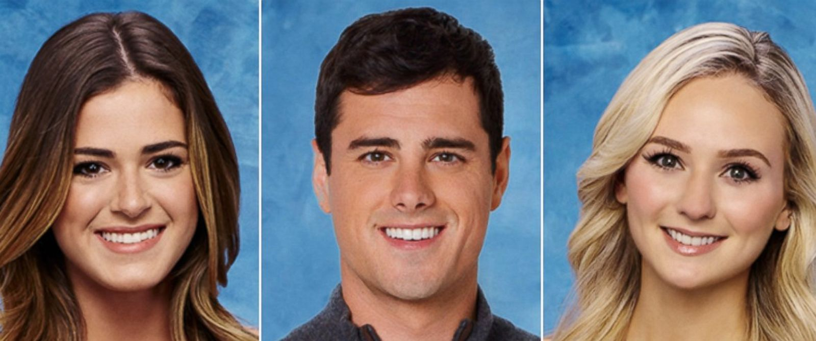 "PHOTO: Ben Higgins, the star of ""The Bachelor,"" makes his choice between JoJo Fletcher, left, and Lauren Bushnell during the season 20 finale on March 14 at 8 p.m. ET on ABC."
